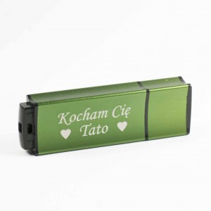 Pendrive BLOKK 16GB kolor 04 c. zielony z grawerem